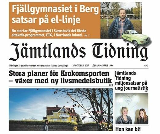 Prenumerera påJämtlands Tidning Din lokala tidning