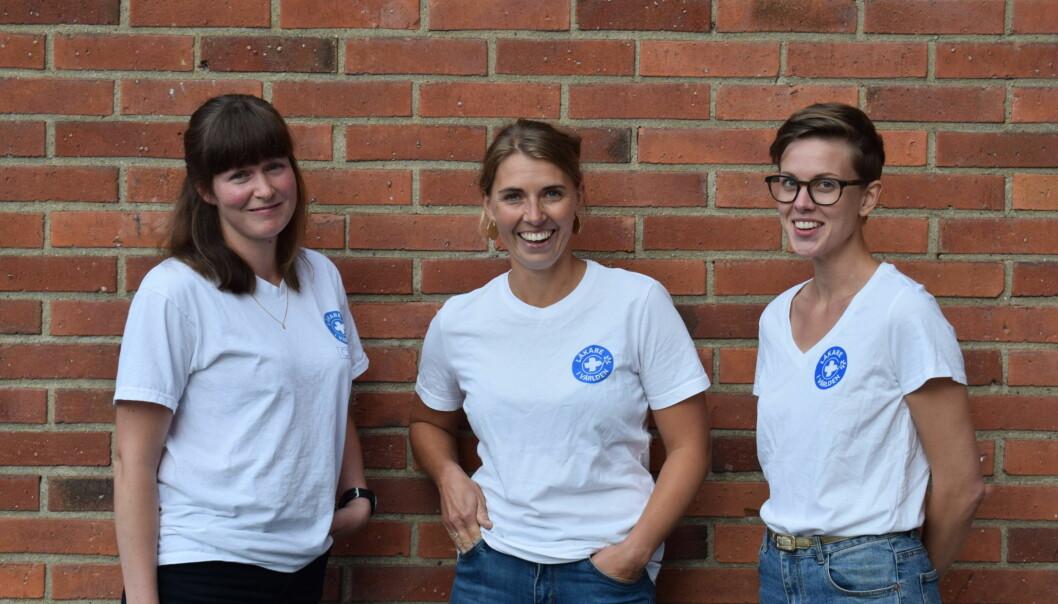 Desiré Malm, Anna Schneider och Amanda Näsman driver den ideella vårdmottagningen i Östersund.