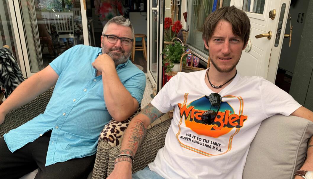 Peder Persson och Niklas Persson är mycket nöjda med helgen på Wemer.