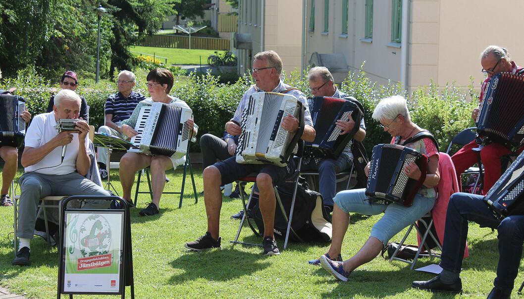 Jämtdrage är en del av Jämtbälgen och de träffas och övar på torsdagar.