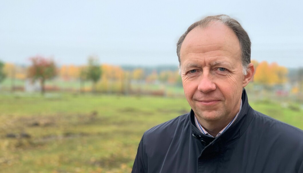 Jämtlands Tidning fick ta en bild innan Kaj Söder lämnade intervjun i affekt.