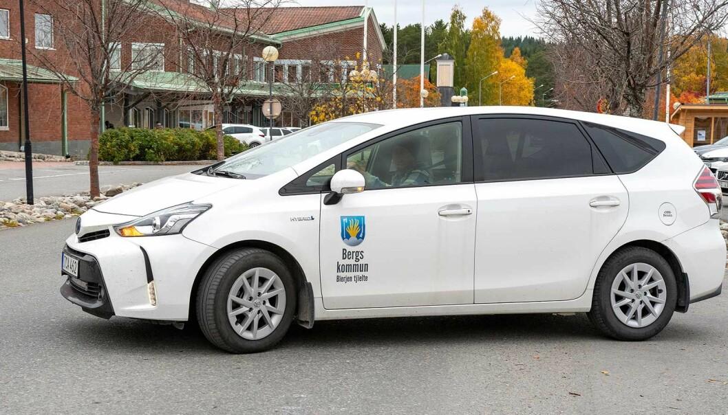 En av Bergs kommuns 68 bilar.