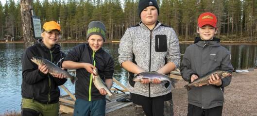 Fiskelycka när unga i Berg lov-fiskade