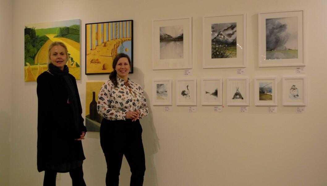 Anna Sundqvist och Åsa Fröjd är två av de utställande konstnärerna.