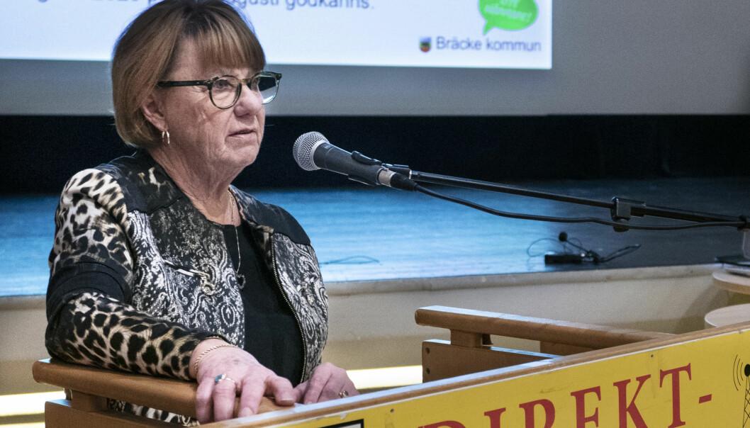 Oppositionsrådet i Bräcke Ingrid Kjellsson.