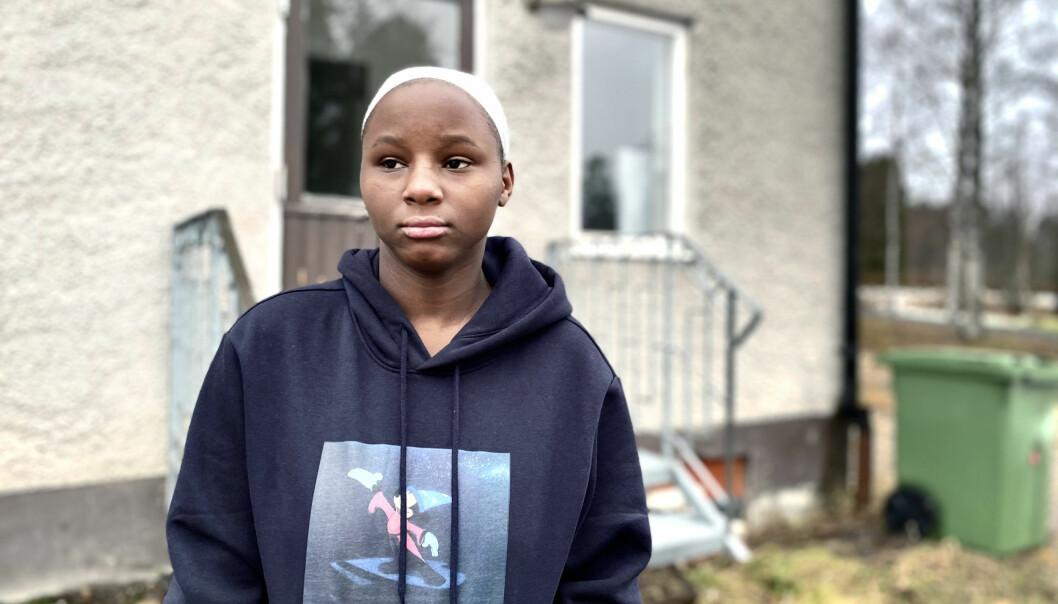 Esther Ahishakiy familj fick välja mellan att flytta från Märsta till Ragunda eller bli hemlösa