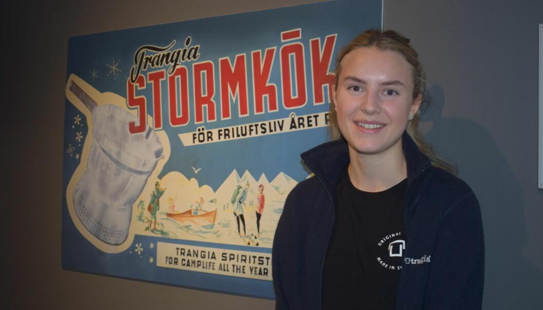 Ida Vikstrand är nyanställd och ser fram emot att få arbeta i den nyöppnade butiken och webbshopen i Trångsviken
