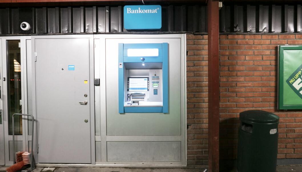 Det här Bräcke kommuns enda bankomat. Problemet är att den sällan fungerar som den ska vilket orsakar problem för både privatpersoner och handlare.