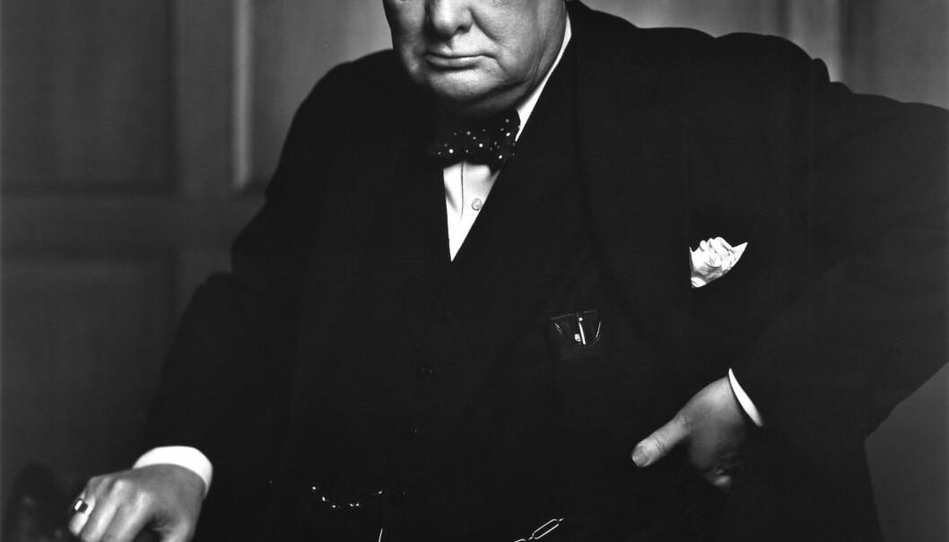 Så här är nog de flesta vana att se Winston Churchill, som ikonisk statsman.