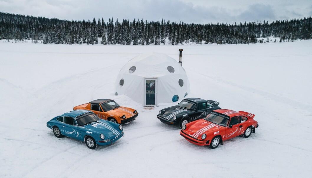 Det är mest internationella gäster som bokar in sig för att kör Porsche på is i Kall.