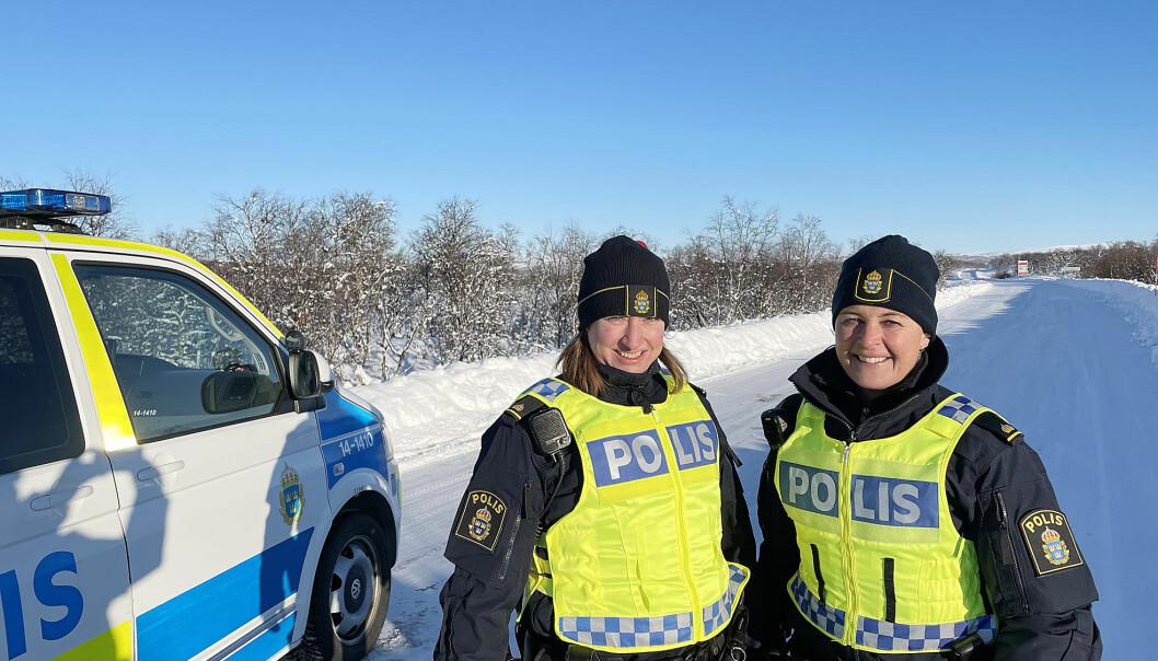 Poliserna Camilla Orrebo och Gunilla Sparrman är i Härjedalen på iskallt uppdrag.