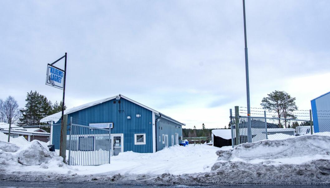 Hagvägen 19B med fastighetsbeteckningen Bandsågen 9, tomten där Ahlsells nya lokaler planeras att byggas. Tidigare har Kilremslagret huserat här.