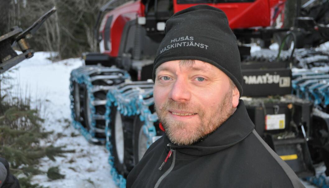 Tommy Öst, ägare av Husås Maskintjänst, tror att färgmärkningssystemet kan bli en produkt på världsmarknaden.