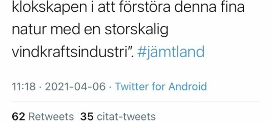 Zlatan säger nej till vindkraft i Offerdal
