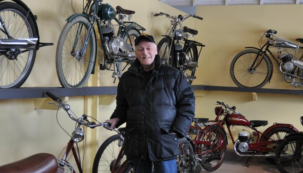 Här blir fler.  Örjan Bergqvist avslöjar att motorcykelsamlingen utökas rejält till sommaren 2021.