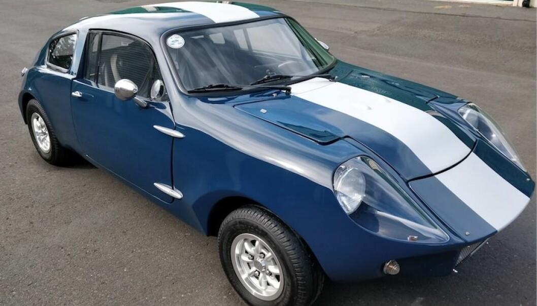 Sportbilen Mini Marcos sattes samman i Kälarne.  En tragisk olycka satte stopp för fortsatt produktion.
