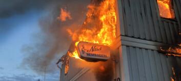 Bageri i Åsarna brann ner till grunden
