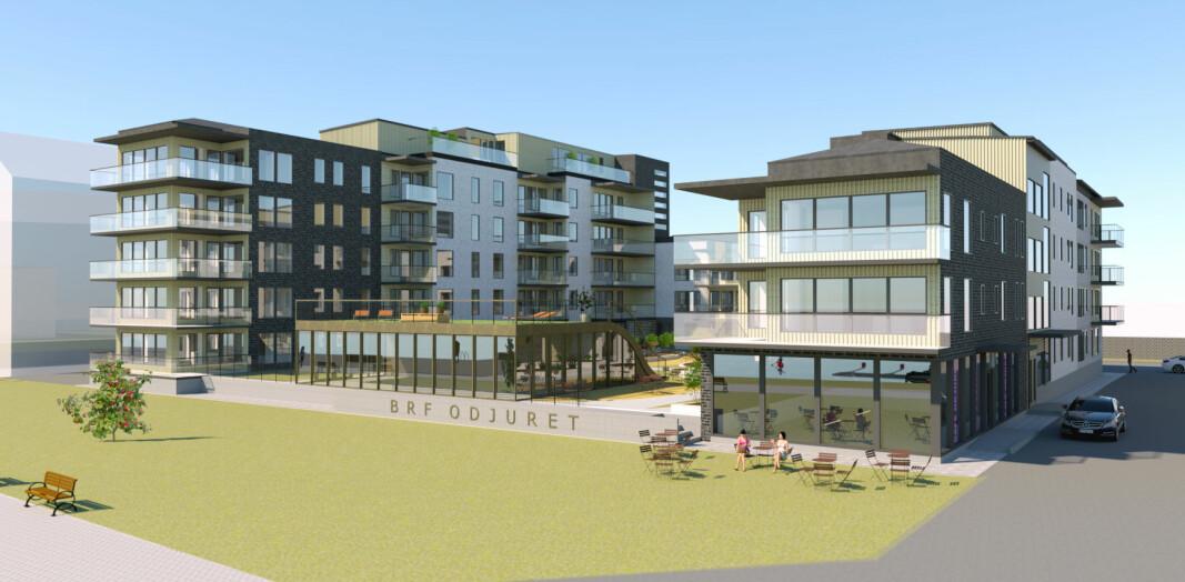 HSB:s förslag till nästa etapp av Storsjö Strand