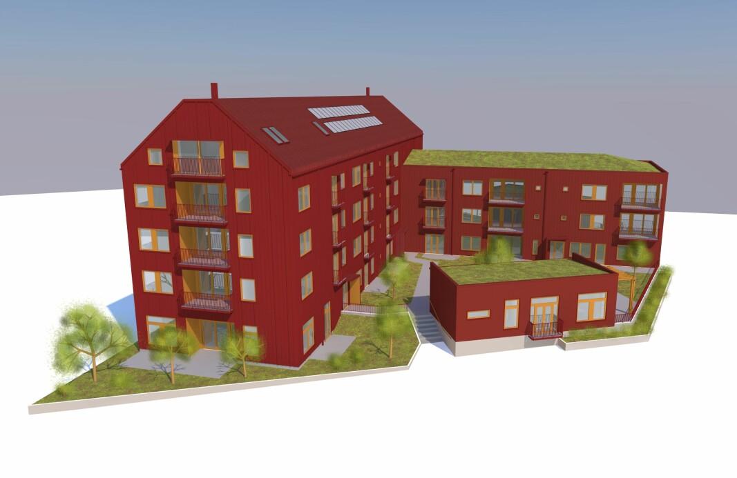 Av de tre byggherrarna är Trångsviken Byggs/Tiös det lokala alternativet.