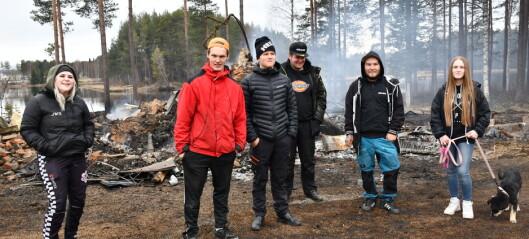 Alla ställde upp vid brand i Rossön