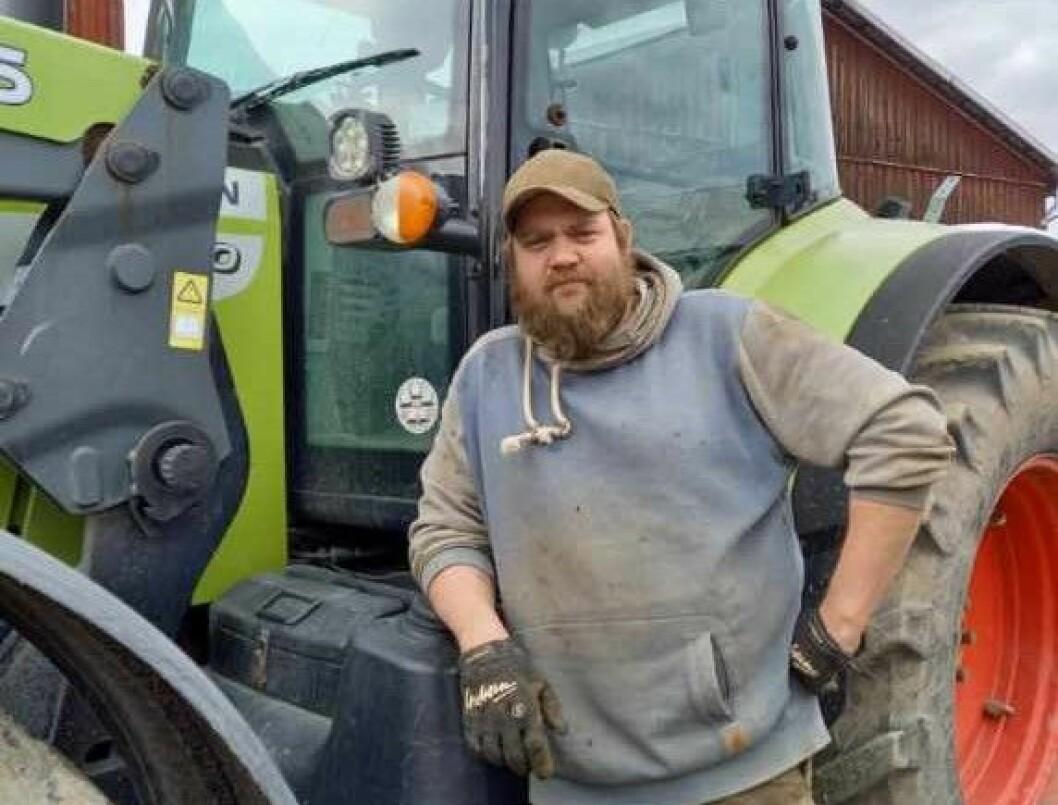 """""""Jag blir inte vackrare än så här mitt i vårbruket"""" tycker Anders Jonsson. Foto: Privat"""