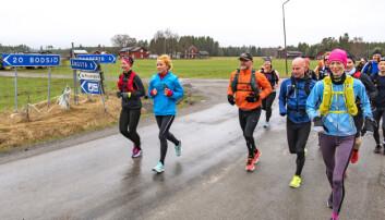 Löparna runt Locknesjön passerade Loke efter fyra kilometer. Alla pratar och skrattar, det känns som en skön morgontur en lördag i mitten av maj.