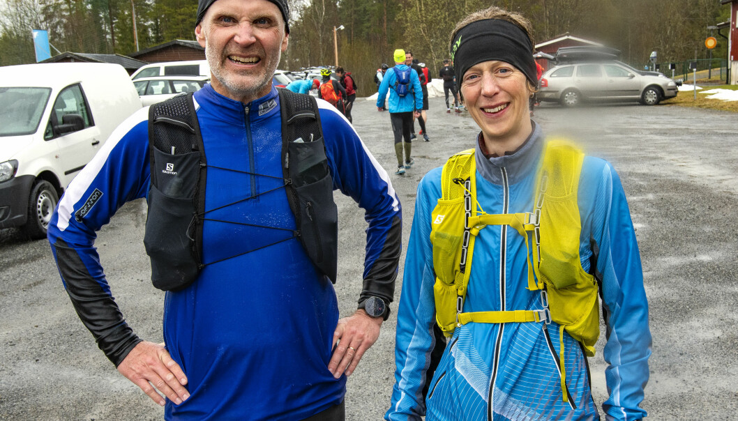 Strax under sex timmar för att springa 5 mil inkluderat raster och lunchfika. Tord Lundin och Elin Nirjens var båda nöjda med insatsen under lördagen.