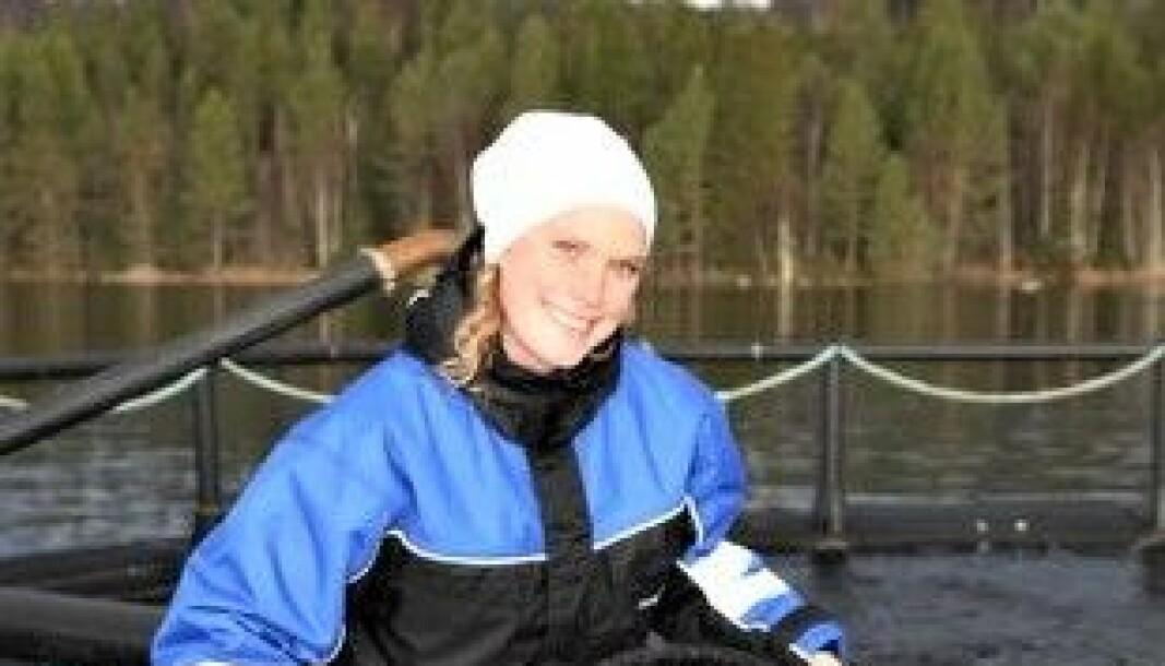 Elin Mehlhorn är platschef vid Landöns fiskodling.
