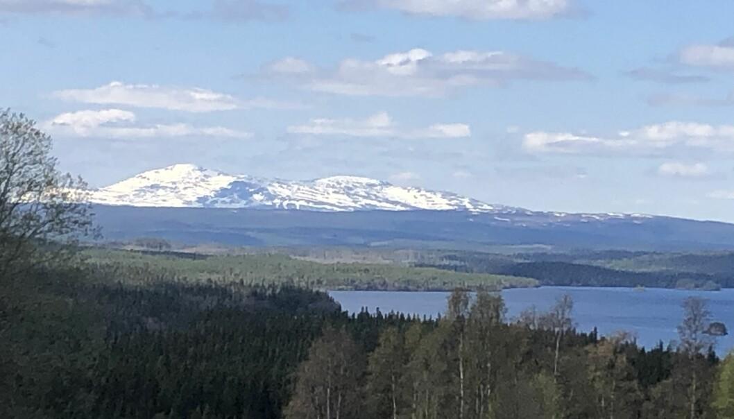 Vy över Gärdessjön. Det är här på höjderna mot Åreskutan och Offerdalsfjällen som Affloardal Energi och Vattenfall vill bygga vindkraft.