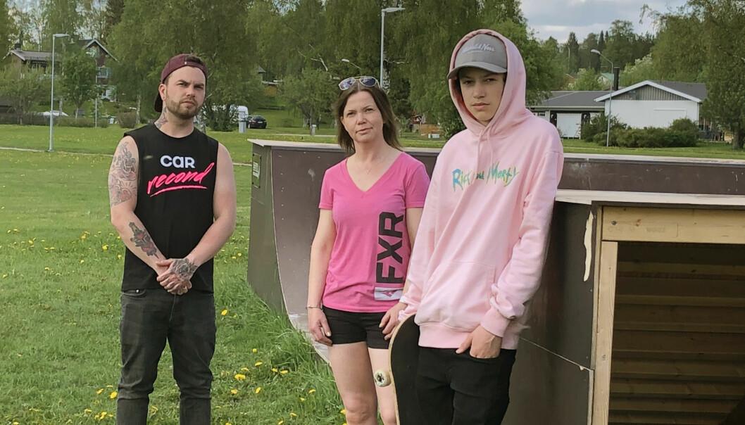 Robin Stener, Camilla Hulkki och Arvid Hulkki vill skapa en samlingsplats för Strömsundsborna.