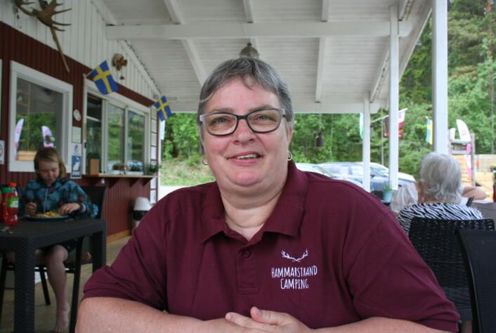 Brenda Burgmeijer har sedan fyra år tillbaka hand om Hammarstrands camping och café.