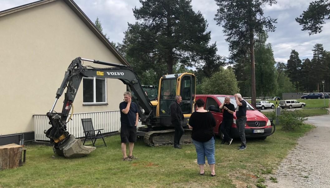 Boende i Backe har fått nog och ockuperar det rivningshotade huset.
