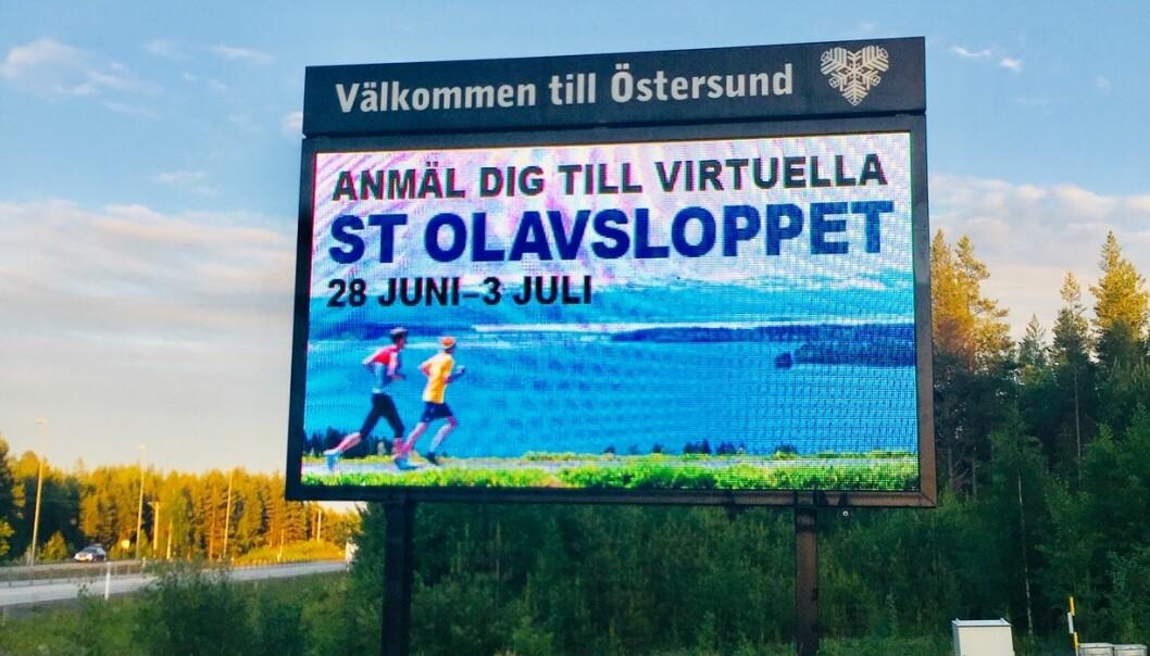 St Olavslopp på digitalt vis arrangerades även förra året.