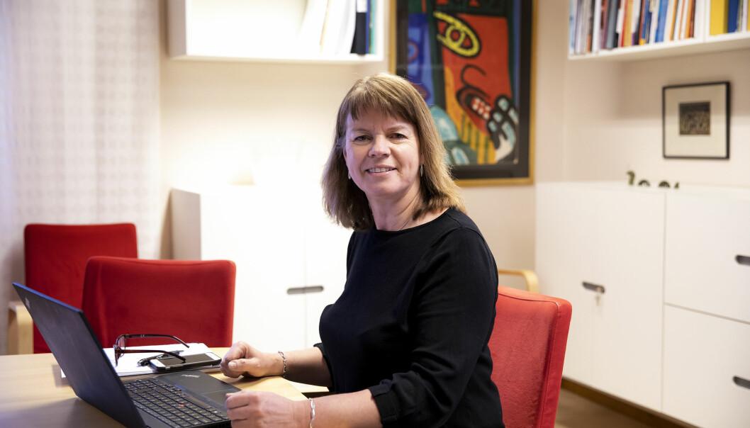 Kommunstyrelsens ordförande Karin Jonsson är glad för det starka budgetresultatet.