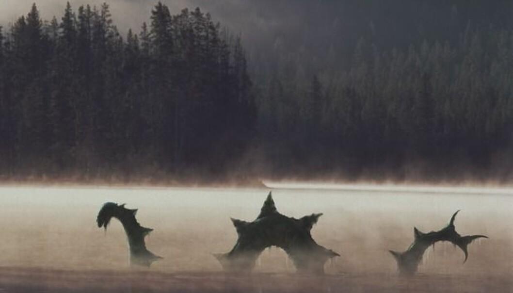 Gömmer Odjuret sig på djupet? Grafik: Östersunds Kommun