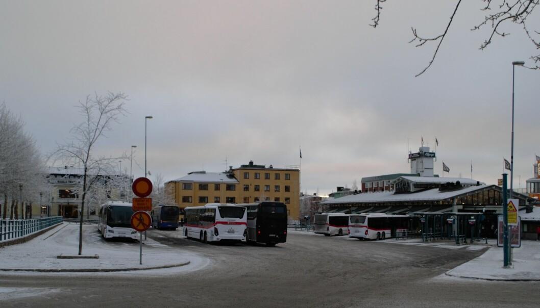 En omfattande opinion har skapats mot planerna för Gustav III Torg (Busstorget). Foto: Torbjörn Aronsson