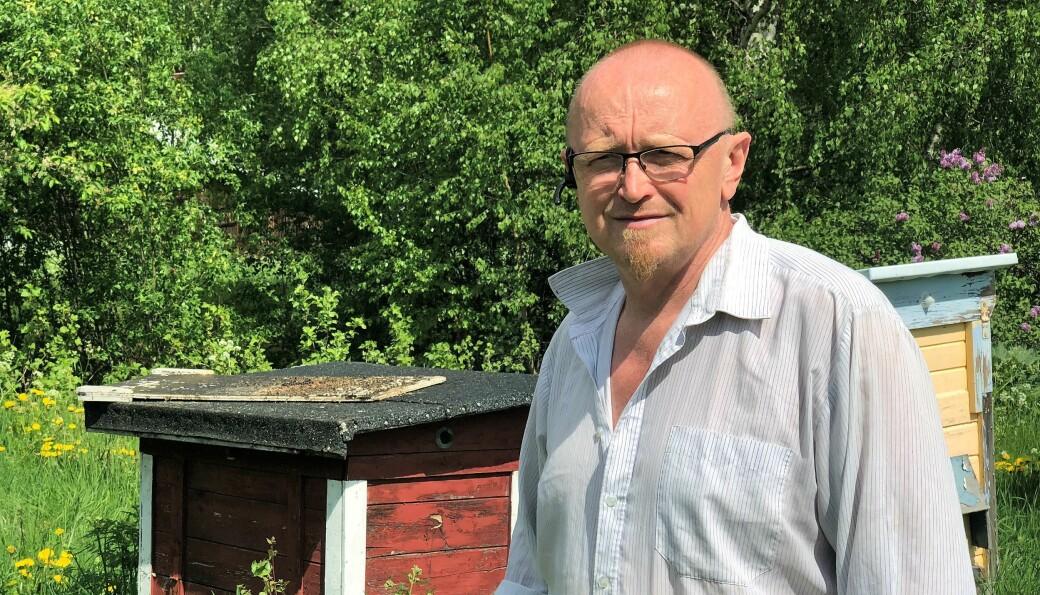 Stefan Sandberg, biodlare i Hammarstrand räknar med ungefär 800 kilo honung i år.