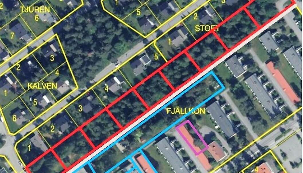Utredningens föreslår för området vid Solliden i Östersund är en ny detaljplan med nio villatomter och 10 radhus tomter. Landstingsbostäder behåller 90 lägenheter i området. En försäljning kan ge 46 till 48 miljoner kronor.