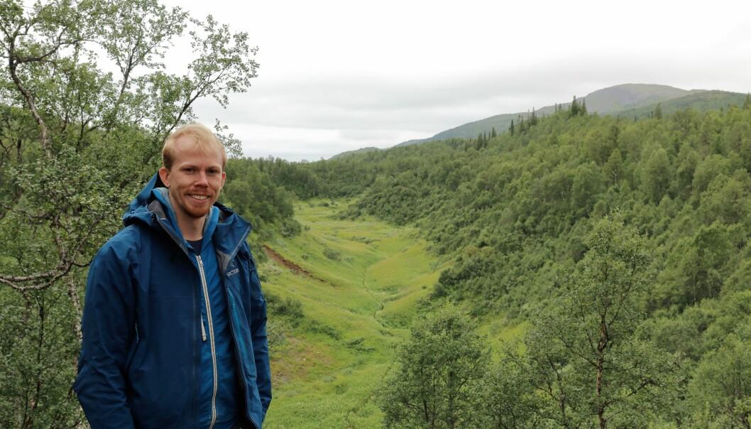 Ola Löfquist, grottutforskare, menar att fynden i Bjurälvens outforskade inre kan ta speleologin vidare. Foto: Linn Ståhl