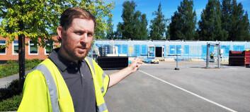Renoveringen av Parkskolan - ska vara klart till skolstarten