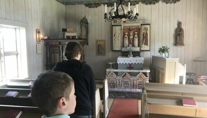 Handöls lappkapell, ett av sommarens besöksmål. Foto från bloggen.