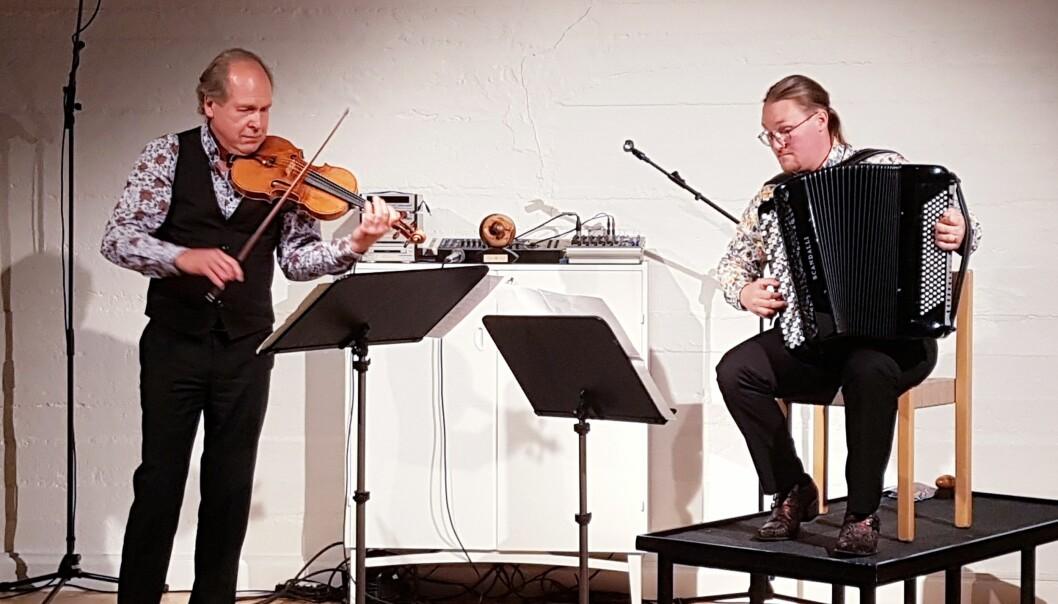 Bengt-Eric Norlén och David Wahlén bjöd inbjudna gäster på en spännande konsert
