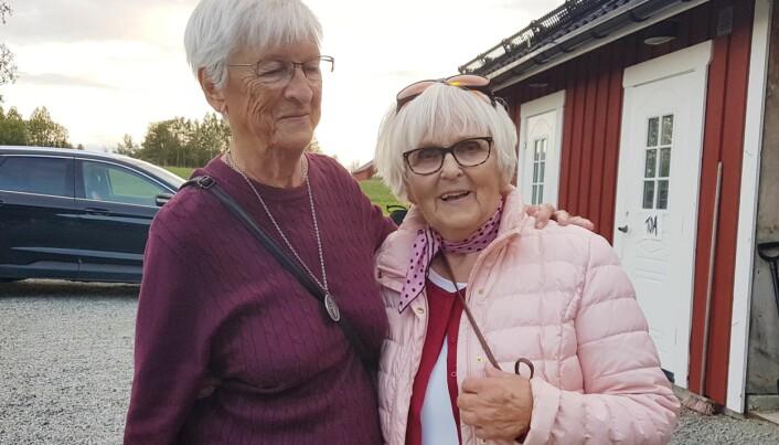 Berit Danielsson och Margona Åkermo njöt av konserten.