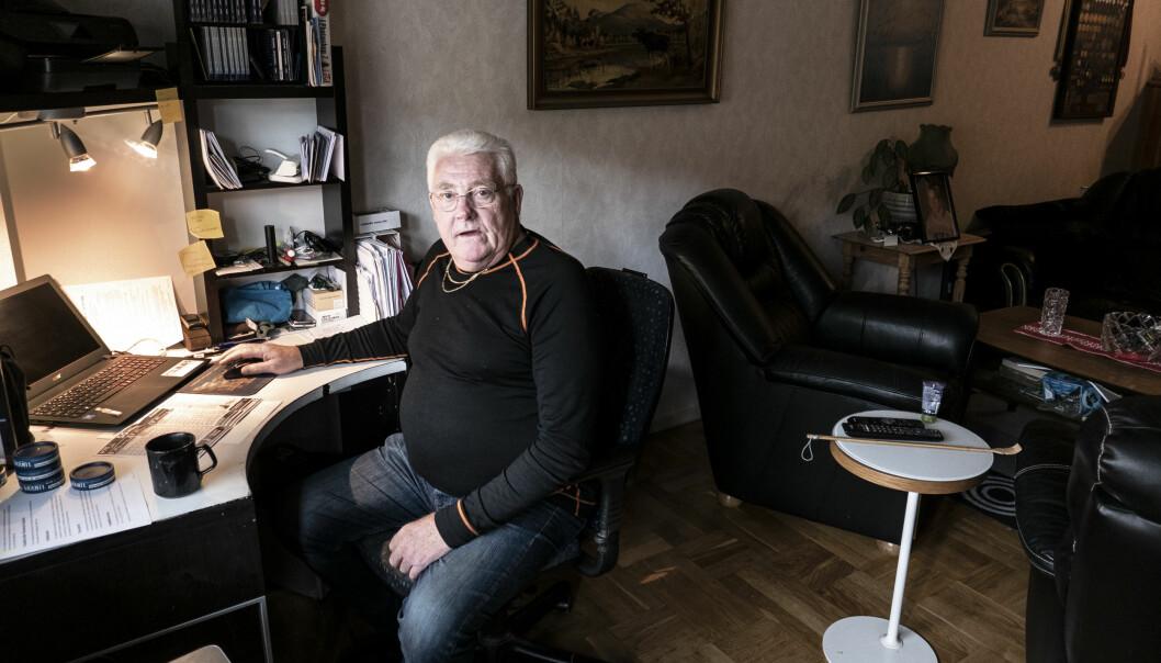 """""""Just nu har jag lite drygt 4400 kronor i hyra. Men efter den här renoveringen kommer det ju inte att stanna vid en femtioprocentig höjning. Det är verkligen rubbet som ska fixas till"""", säger Kjell-Erik Vikander, hyresgäst på Samuel Permansgatan."""