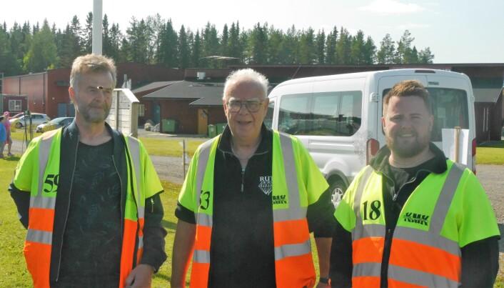 """Från vänster: Göran Jönsson, Robert """"Robban"""" Walter och Simon Röden är några av de som driver RUT inom motorsport."""
