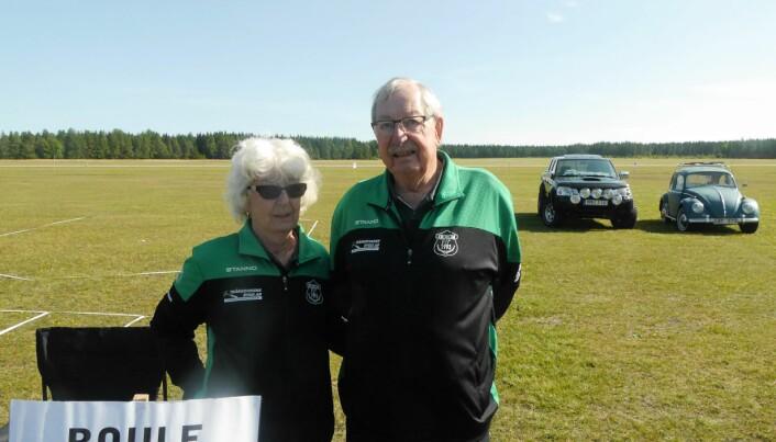 Sol-Britt Lindberg och Kjell Jonasson från Krokom Parasport, flera föreningar var på plats.