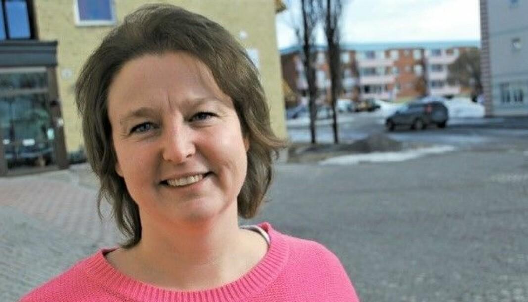 Det som skrämmer mig är att de nationella målen kan vara uppfyllda utan att alla i Strömsund har täckning, säger Ann-Louise Hansson, bredbandssamordnare Strömsunds kommun. Foto: Pernilla Gunnarsdotter-Persson.