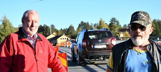Bro i Rossön är skadad – trafiken läggs om – livsfarlig lösning för cyklister och gångtrafikanter