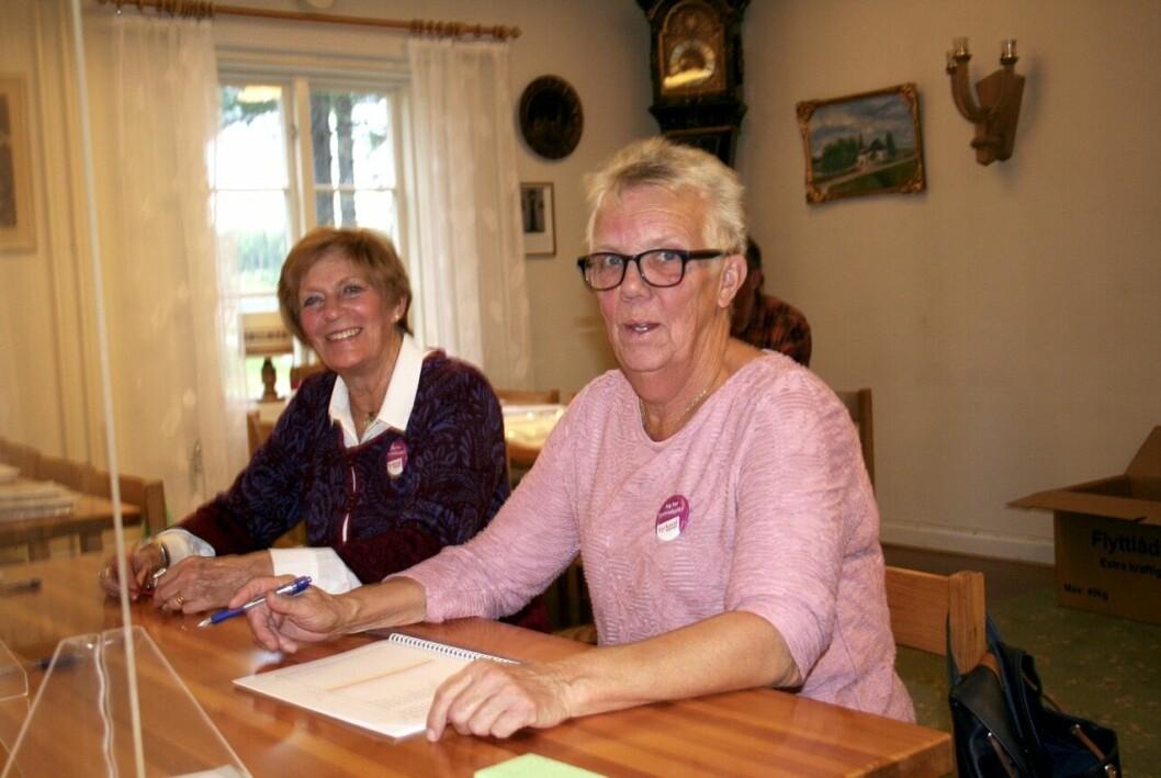 Glest med röstande i kyrkovalet under söndagsförmiddag i Stugun
