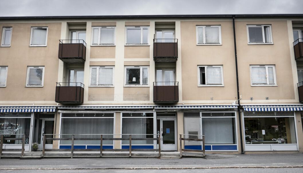 Bankkontoret i Bräcke är stängt sedan i vintras